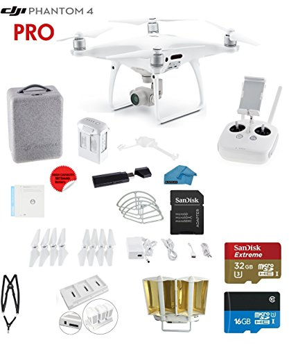 DJI-Phantom-4-PRO-Quadcopter-Drone-with-1-inch-20MP-4K-Camera-KIT-SanDisk-32GB-Micro-SDXC-Cards-Card-Reader-30-Snap-on-Prop-Guards