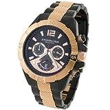 Stuhrling Original Men's 235.339241 Classic Traveler Westport Chronograph GMT Date Rose Tone Bracelet Watch