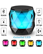 LFS-LED altavoz Bluetooth, mini portátil 4,2 micrófono incorporado, manos libres, reproductor de música para teléfonos Samrt