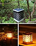 xinyuetong Solar Lights Outdoor LED Flickering Flame Torch Lights Solar Powered Lantern Hanging Decorative Atmosphere Lamp for Pathway Garden Deck Christmas Holiday Party Waterproof Auto On/Off