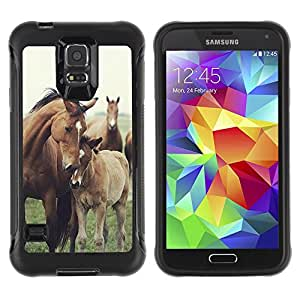 BullDog Case@ Horse Cub Nature Foal Animal Summer Rugged Hybrid Armor Slim Protection Case Cover Shell For S5 Case , G9006 Cover Case ,Leather for S5 ,S5 Cover Leather Case ,G9006 Leather Case