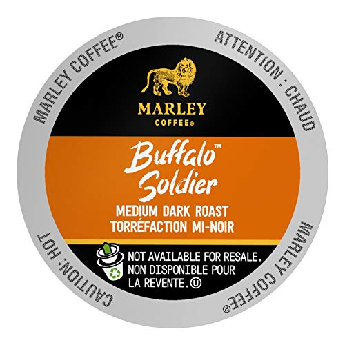 Marley Coffee Single Serve K Cup Compatible Capsules, Buffalo Soldier, Medium-Dark Roast, 72 Count