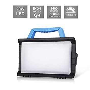 20W LED Akku Arbeitsleuchte Arbeitslampe Camping Flutlicht Strahler Außenlampe