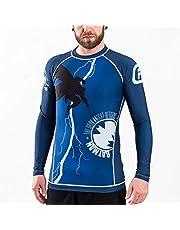 Fusion Fight Gear Batman The Dark Knight Returns Cover BJJ Rash Guard Compression Shirt