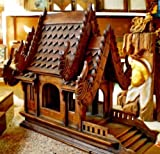 Home Decor Spirit House, Traditional Thai ,Made From Teak Woodthe Temple Has Two Roofs, Inc.