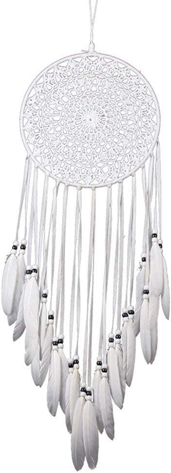 dalismotemp Big Woven Bohemian Dream Catcher Feather Beads Hanging Ornament Handmade Window Balcony Wall Home Bedroom Decor Black