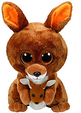 Ty Beanie Boos Kipper, Canguro, Color marrón, 23 cm (United Labels Ibérica