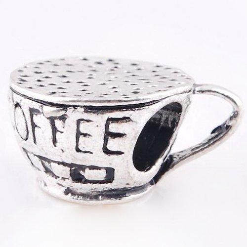 defd3d386 Amazon.com: Coffee Cup Charm for Pandora Bracelets - Pandora Necklaces:  Bead Charms: Jewelry