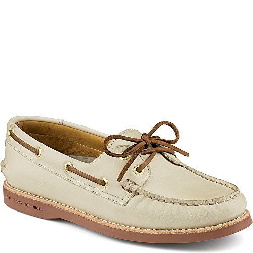 Scarpa Da Uomo A Filetto In Pelle Color Oro Da Uomo Sperry Mens - 8 B (m) Us