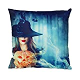 Pgojuni Halloween Durable & Cozy Pillowcase Super Soft Decoration Throw Pillow Cover Cushion Cover Square Pillow Case for Sofa/Couch Home Decor 1pc (B)