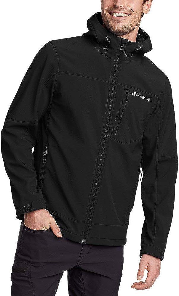 Eddie Bauer Men's Stratify Thermal Hooded Jacket, Black Tall L