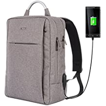 OSOCE Slim Laptop Backpack Business Computer Bag with USB Port Charger Anti Theft Casual Daypack Water Resistant College Rucksack 15.6 inch for School Work Travel