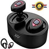 XIAOWU Bluetooth Headphones Wireless Earbuds Mini Bluetooth Headset with Microphone and Charging Case Noise Cancelling Earphones for iPhone 8 7/6/7Plus/6Plus and Android Samsung