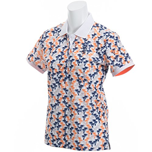 アドミラル Admiral 半袖シャツ?ポロシャツ マイクロヤシの木 半袖ポロシャツ レディス