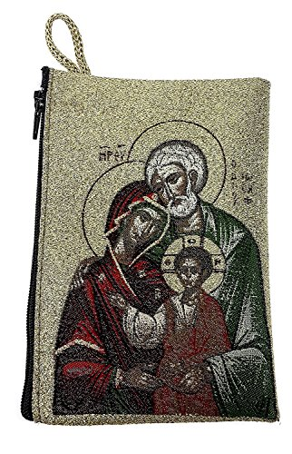 (Icon Case Pouch Coin Purses Tapestry Prayer With Holy Family 5.7
