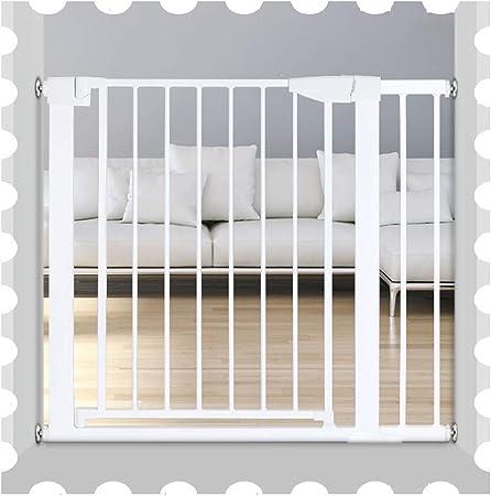 QIANDA Blanco Barrera Seguridad Niños Protector Escaleras La Seguridad Niños Barrera Protector con Caminar A Través Puerta for Escalera, Ajuste A Presión | Auto Cerrado, Alto 76cm (Size : 131-138cm): Amazon.es: Hogar
