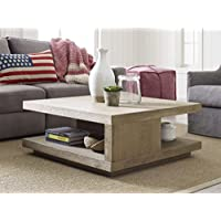 Tommy Hilfiger Esther Coffee Table in Weathered Drift Oak Finish