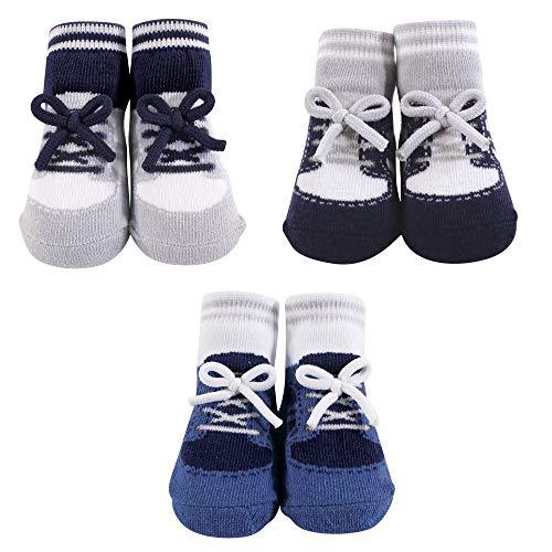Hudson Baby Baby Socks Gift Set, blue sneaker 3 Pack 0-9 Months
