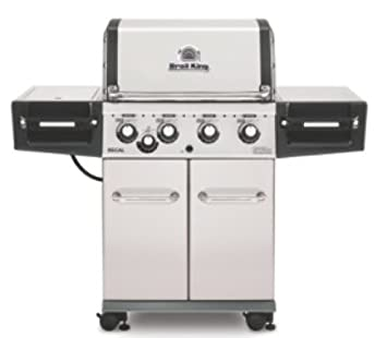 broil King Gas barbacoa Estantería 440 Pro Plata tapa y Debajo de parrillas de acero inoxidable