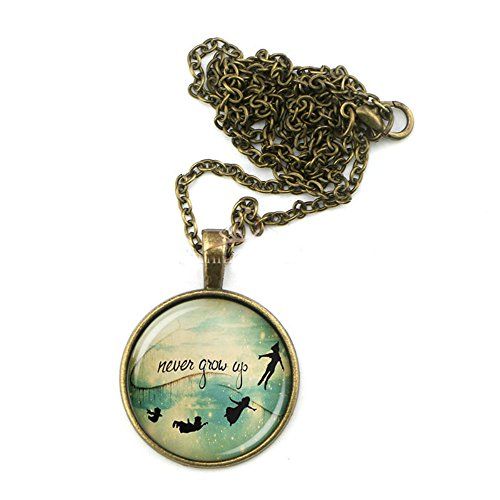 peter-pan-necklace-never-grow-up-quote-jewelry-round-glass-pendant-charm