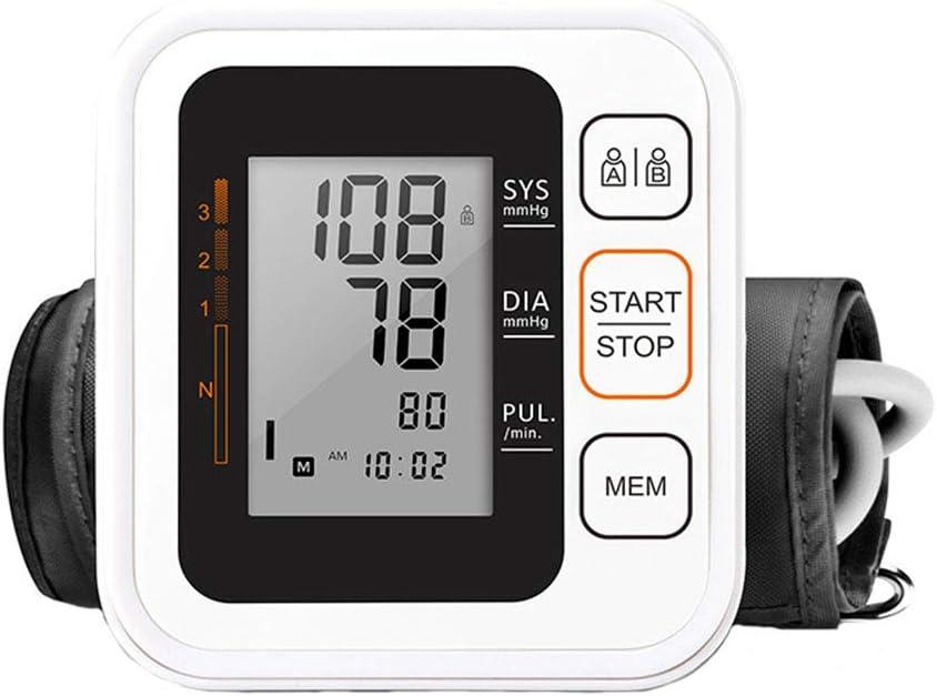 XSQRXYQ Portátil Digital doméstico Brazo Superior Monitor de presión Arterial Completamente automático Precisión Inteligente Tonómetro de Voz