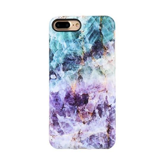 buy online d48ac 22d9f iPhone 7 Plus Case/iPhone 8 Plus Case for Girls, Leminimo Purple Quartz TPU  Protective Flexible Case for iPhone 7 Plus/iPhone 8 Plus [5.5 inch ...