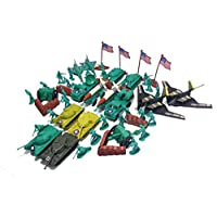 150pc Army Men Toy Soldiers Play Set Misiles Jets Tanques B2 Bombardero