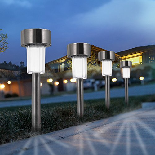Boomile Solar Garden Lights, Solar Powered Pathway Light, Solar Lights Outdoor for Garden/Lawn/Patio/Yard/Walkway/Driveway