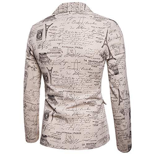 En Color Shuanghao Lin Costume Slim Hommes Décontracté Pour Élégant Blazer Imprimés Floraux Manteau Fit À 3 q6qUEwC