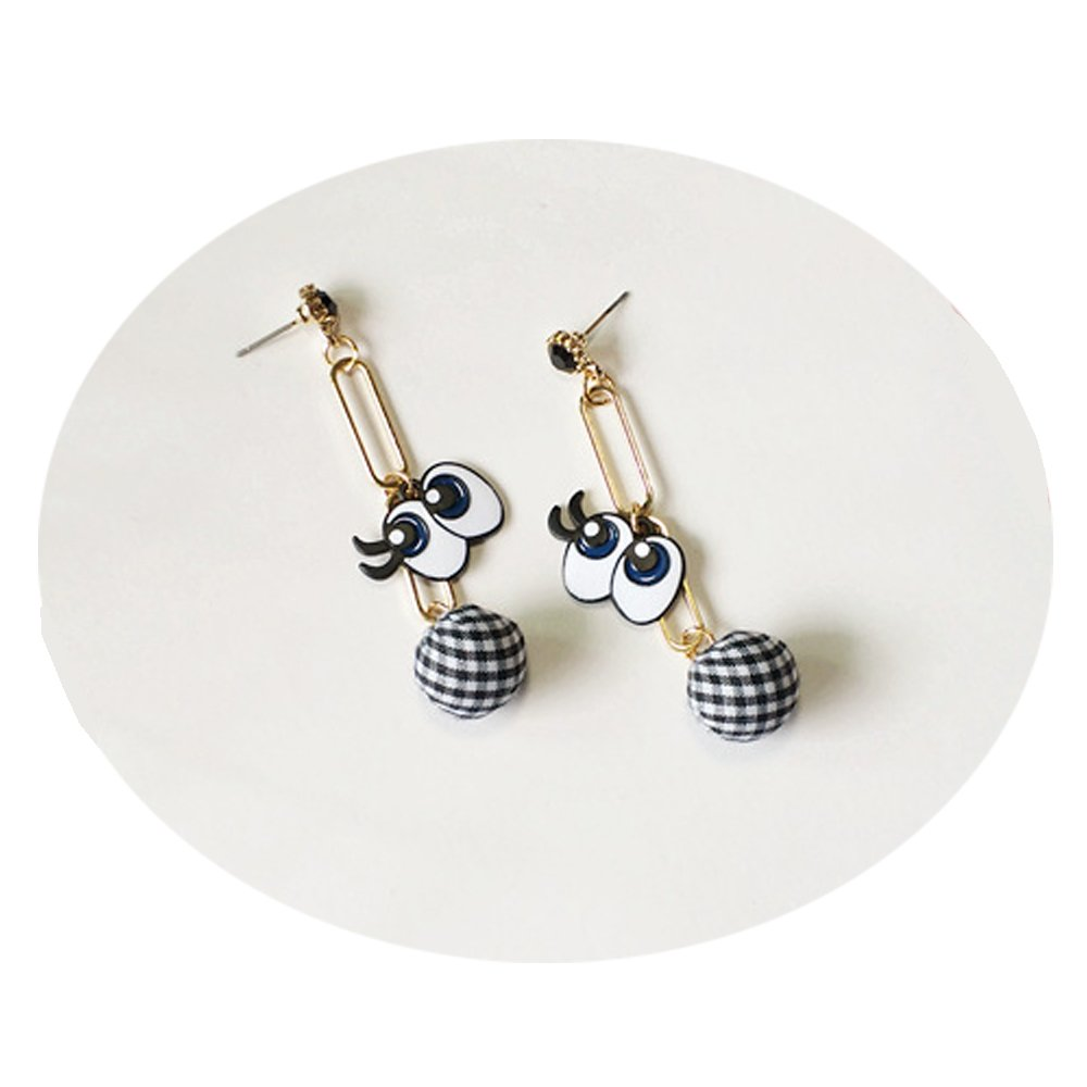 TIDOO Jewelry England Style Plaids Round Ball Stud Earring for Girls