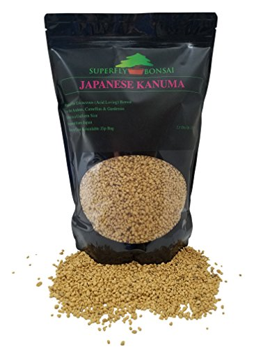 Kanuma Bonsai Soil - Sifted and Ready To Use - Great for Azaleas - Can Also Be Used As An Additive In Easy Zip Bag - (2.5 Dry Quart) (2.5 Dry Quarts) (Best Soil For Azaleas)