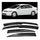 Fit 06-11 Honda Civic Sedan 4DR JDM MUGEN Window Visors Sun/Rain Guard Deflectors