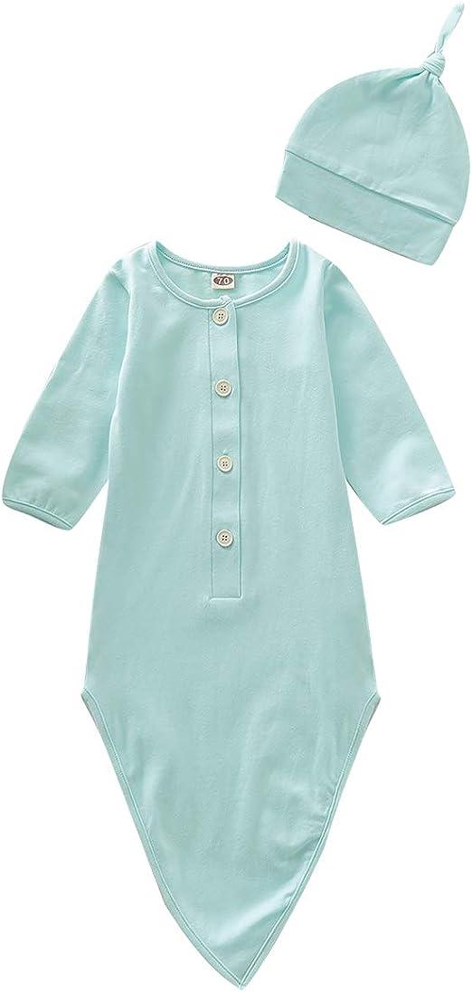 Amazon.com: Traje de bebé recién nacido de algodón camisón ...