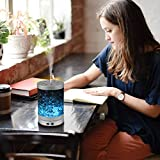 AIGOCEER Essential Oil Diffuser Himalayan Salt Lamp Cool Mist Humidifier 3 in 1. 120ml Ultrasonic Aroma Diffusers Humidifier. 7 Colors Changing LED Night Lights, Waterless Auto Shut-Off - Silver