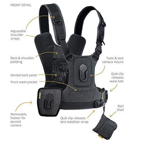 Cotton Carrier G3 Dual Camera Harness for 2 Camera's Gray by Cotton (Image #1)