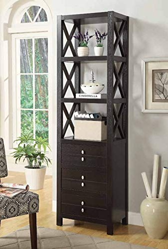 Coaster Home Furnishings 3-Tier Media Tower Cappuccino