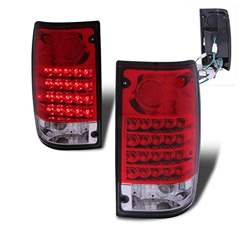 SPPC Red/Clear LED Tail Lights Assembly for Toyota Pickup - (Pair) Driver Left and Passenger Right Side ()