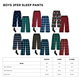 Mad Dog Boy's 2-Pack Pajama Pants + Slipper Socks