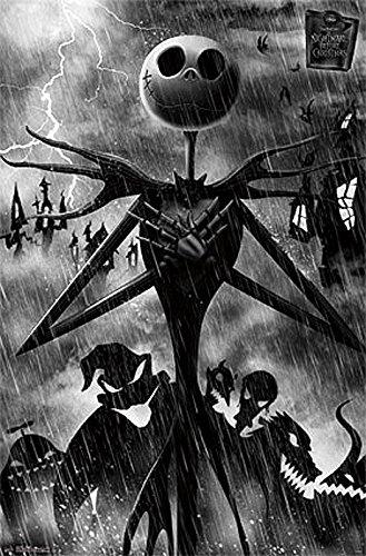 The Nightmare Before Christmas Shadows Rain Movie Poster 22x34