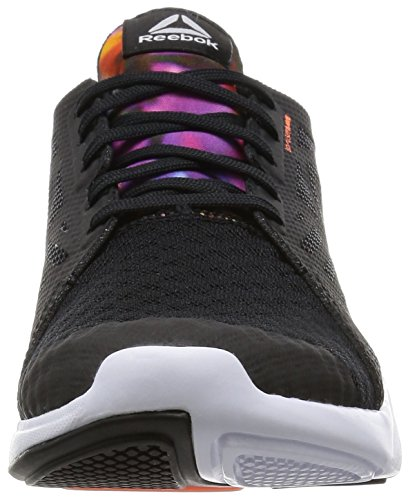 Reebok Damen Cardio Inspire Low 2.0 Turnschuhe, Bunt Schwarz / Weiß/ Orange (Black/White/Electric Peach/Graphic)
