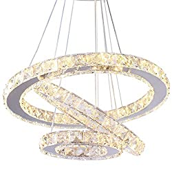 Crystal Chandeliers With LED Pendant Lights