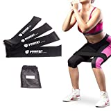 Resistance Loop Bands, Triumilynn Therapy Exercise Bands with Carrying Bag, Set of 4, Light Medium Heavy X-heavy for Strength & Fitness, Workout & Physical Therapy