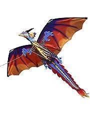 140 سم × 120 سم / 55 × 47 بوصة طائرة ورقية طائرة ورقية طائرة ذات ذيل 100 متر خط طيران للأطفال والكبار لايفوكس
