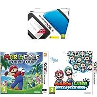 Nintendo 3DS XL Handheld Console (Blue) with Mario and Luigi: Dream Team Bros. and Mario Golf: World Tour