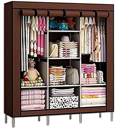 outlet store 3c2a5 6502d Anvera Light Weight Fancy and Portable Foldable Closet Wardrobe with  Shelves (Multicolour)