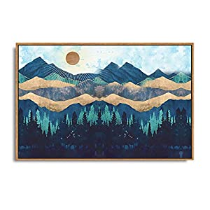 SIGNFORD Framed Canvas Home Artwork Decoration Abstract Mountain Nature Scenery Canvas Wall Art for Living Room, Bedroom…