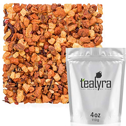 Tealyra - Tropical Oasis - Pineapple and Hibiscus - 100% Natural Fruity Loose Leaf Tea Blend - - Vitamines Rich - Caffeine-Free - Hot and Iced Tea - 110g (4-ounce)