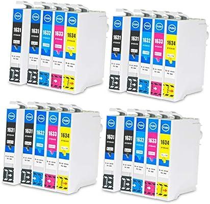 jagute 20 Pack cartuchos de impresora Repuestos para Epson 16 X L ...
