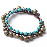 Libaraba Tibetan Turquoise,Copper Beads and Copper Bells Anklet