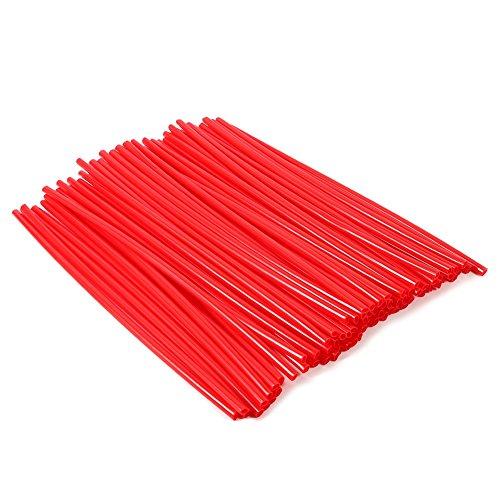 VGEBY 72Pcs Spoke Skins,Motorcycle Street Bike Wheel Spoke Wraps Skins Coat Trim Cover Pipe (Color : Red)